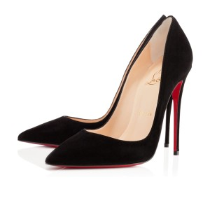 Christian Louboutin 120mm So Kate So Kate 120 Suede Black Pumps