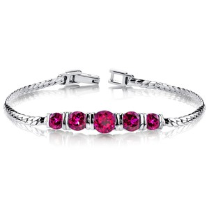 Other Sterling Silver Ruby Bracelet