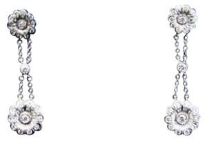Tiffany & Co. Tiffany & Co Platinum Diamond Rose Double Drop Earrings .59Ct