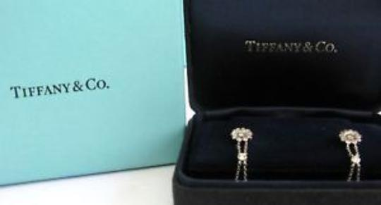 Tiffany & Co. Tiffany & Co Platinum Diamond Rose Double Drop Earrings .59Ct Image 7