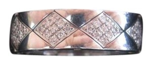 Chanel Chanel 18KT Quilted Diamond Band Ring Sz 6.5