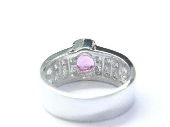 Other 18Kt Gem Pink Sapphire Diamond White Gold Jewelry Ring 3.50CT Image 3