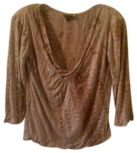 Dunia T Shirt Brown and cream