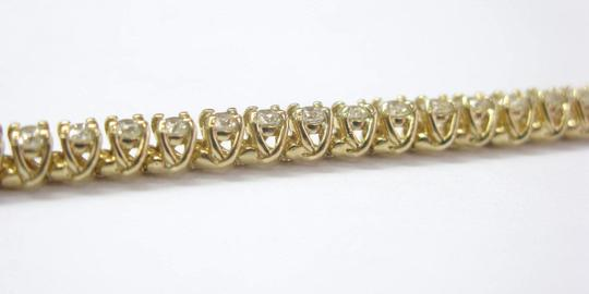 Other Fine Round Cut Diamond Tennis Bracelet 4-Prong YG 4.13Ct Image 2
