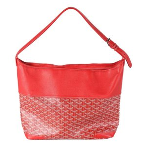 Goyard Chevron Leather Hobo Bag