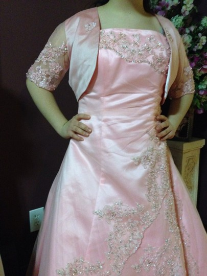Pink Polyester Bridesmaid/Mob Dress Size 10 (M)