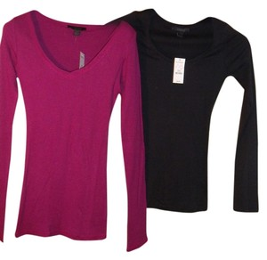 Express T Shirt Black & Magenta