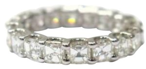 Other Fine Asscher Cut Diamond Eternity Ring 3.30Ct WG Sz7.5