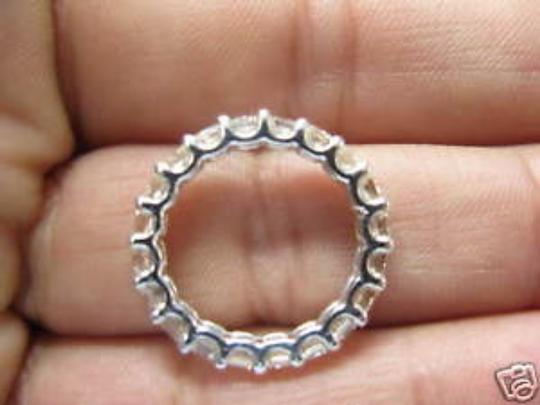 Other Fine Asscher Cut Diamond Eternity Ring 3.30Ct WG Sz7.5 Image 1