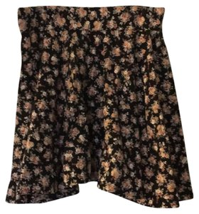 Pins and Needles Mini Skirt black floral
