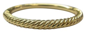 David Yurman David Yurman 7mm 18k Yellow Gold Signature Bangle 29 Grams