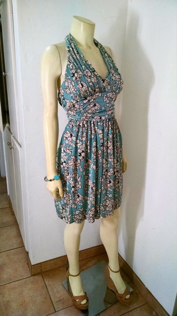 Betsey Johnson short dress green, brown Size 2 Knee Length P1286 on Tradesy