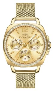 Coach Coach 14502490 Mesh Gold Boyfriend Watch Crystals