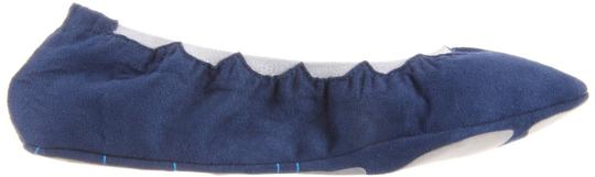 Blake Brody Ballet Scallop Comfy Snug Sueded Texture Navy/Soft Grey Athletic Image 4