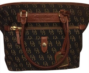 Dooney & Bourke Satchel in Blue and brown