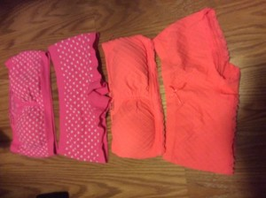 Nordstrom Lot 2 bandeau and shortie sets size Small
