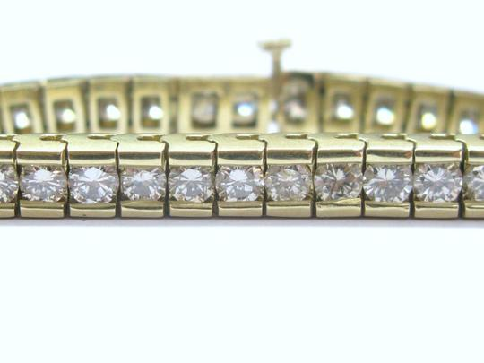Other Fine Round Cut Diamond Tennis Bracelet Yellow Gold 14Kt 8.00CT Image 3