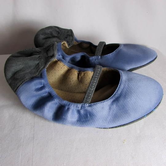 Blake Brody Ballet Comfy Snug Sueded Texture Rubberized Blue/Charcoal Athletic Image 1