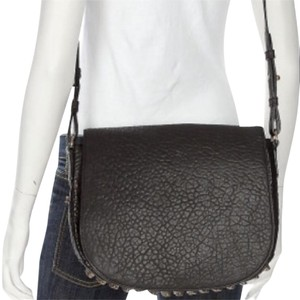 Alexander Wang Studded Pebbled Messenger Cross Body Bag