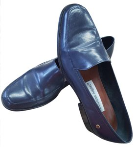 Etienne Aigner Leather Loafer Navy Flats