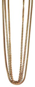 Lisner Lisner vintage three strand multi chain statement necklace