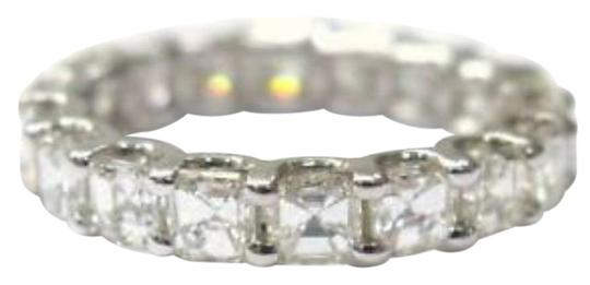 Other Fine Asscher Cut Diamond Eternity Ring 3.15Ct White Gold 14KT Sz6.5 Image 0