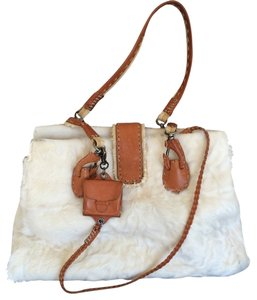 Ermanno Scervino Fur Italian Hobo Bag