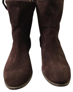Vince Camuto Dark Brown Suede / Fudge Brownie Verona Boots