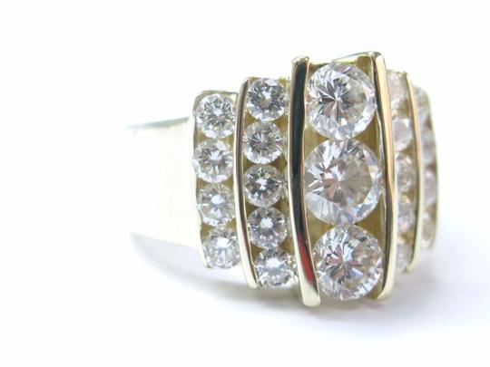 Other Fine Round Brilliant Diamond Cocktail Jewelry Yellow Gold Ring 2.36CT Image 4