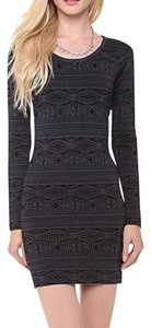 Parker Going Sexy Bodycon Leather Knit Dress