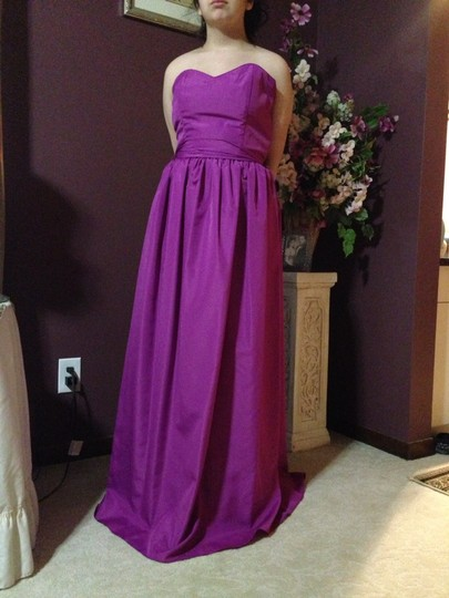 Plum/Fuchsia Polyester Bridesmaid/Mob Dress Size 4 (S)
