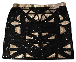 Elizabeth ryan Mini Skirt black, gold