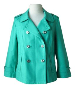 White House | Black Market Swing Breated green Jacket