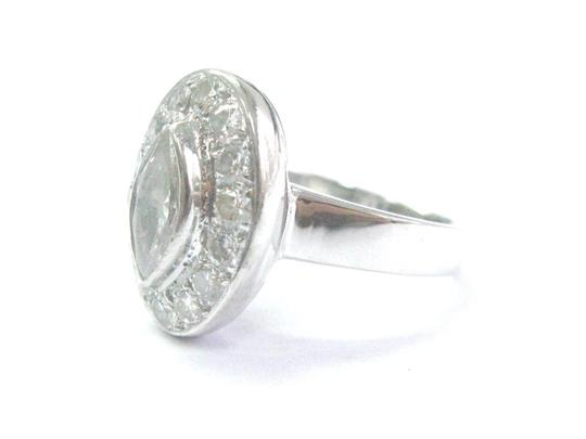 Other 18Kt Marquise & Round Diamond White Gold Engagement Ring 2.20CT I-VS1 Image 1