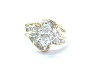 Other Fine Marquise Cut & Baguette Cut Diamond YG Solitaire W Accents Engage