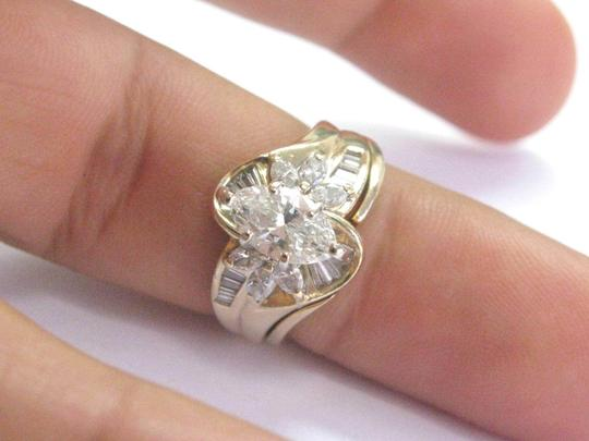 Other Fine Marquise Cut & Baguette Cut Diamond YG Solitaire W Accents Engage Image 4
