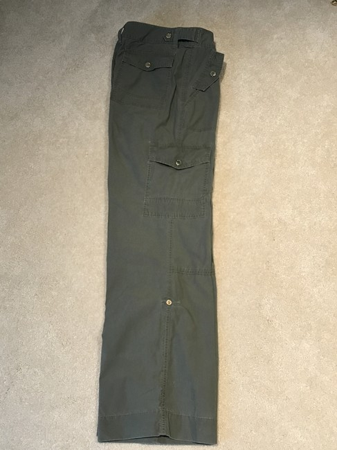 Michael Kors Cargoes Size 8 Cargo Pants Olive Green Image 2