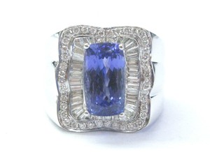 Other 18Kt Gem Tanzanite Multi Shape Diamond White Gold Jewelry Ring 7.08CT