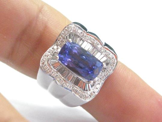 Other 18Kt Gem Tanzanite Multi Shape Diamond White Gold Jewelry Ring 7.08CT Image 4
