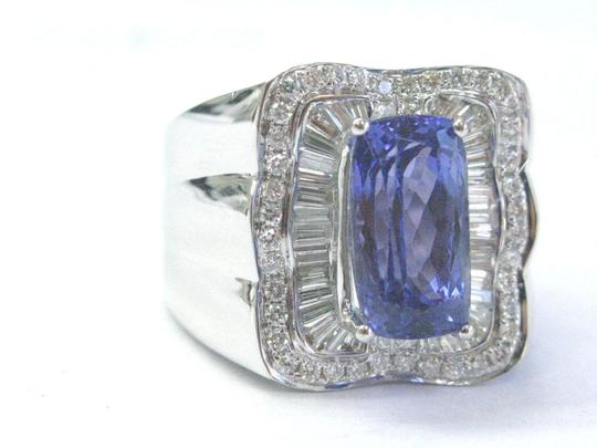 Other 18Kt Gem Tanzanite Multi Shape Diamond White Gold Jewelry Ring 7.08CT Image 5