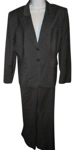 Tahari Gray Pinstripe Pants Suit 16P