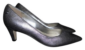 Chanel Pointed Silver Pumps