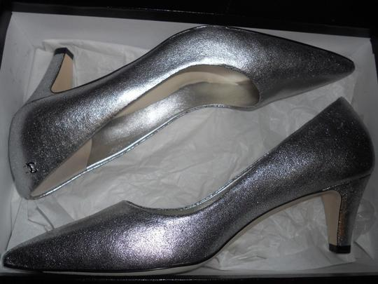 Chanel Pointed Silver Pumps Image 4