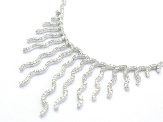 Other Fine Round Diamond Line Drop White Gold Necklace 17