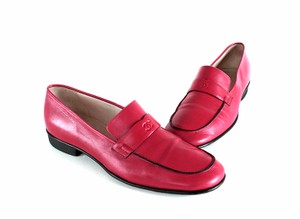 Chanel Loafers 7.5 Red Flats