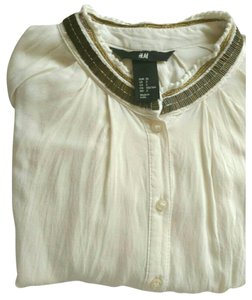 H&M Button Down Shirt Beige