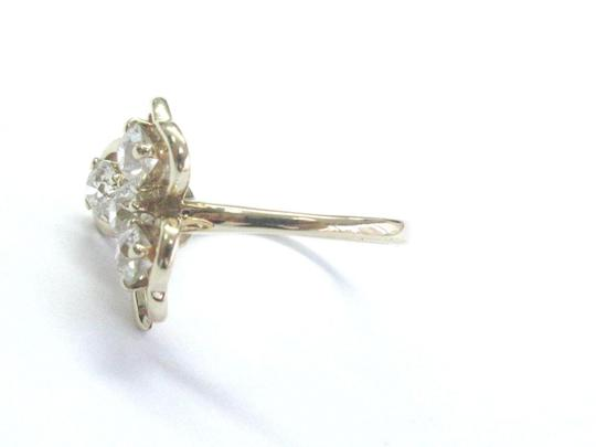 Other Fine 14Kt Vintage Old European Diamond 4-Stone Yellow Gold Leaf Ring 1 Image 1