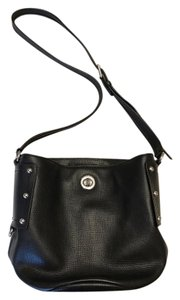 Marc by Marc Jacobs Pebble Leather Studded Bucket Turn Lock Cross Body Bag
