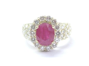 Other 18Kt Gem Ruby Diamond Yellow Gold Anniversary Jewelry Ring 4.12Ct