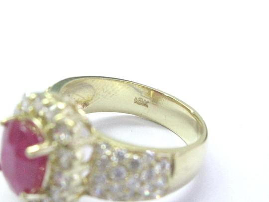 Other 18Kt Gem Ruby Diamond Yellow Gold Anniversary Jewelry Ring 4.12Ct Image 1